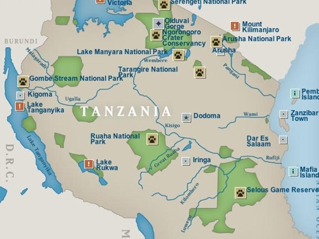 坦桑尼亚国家全景图